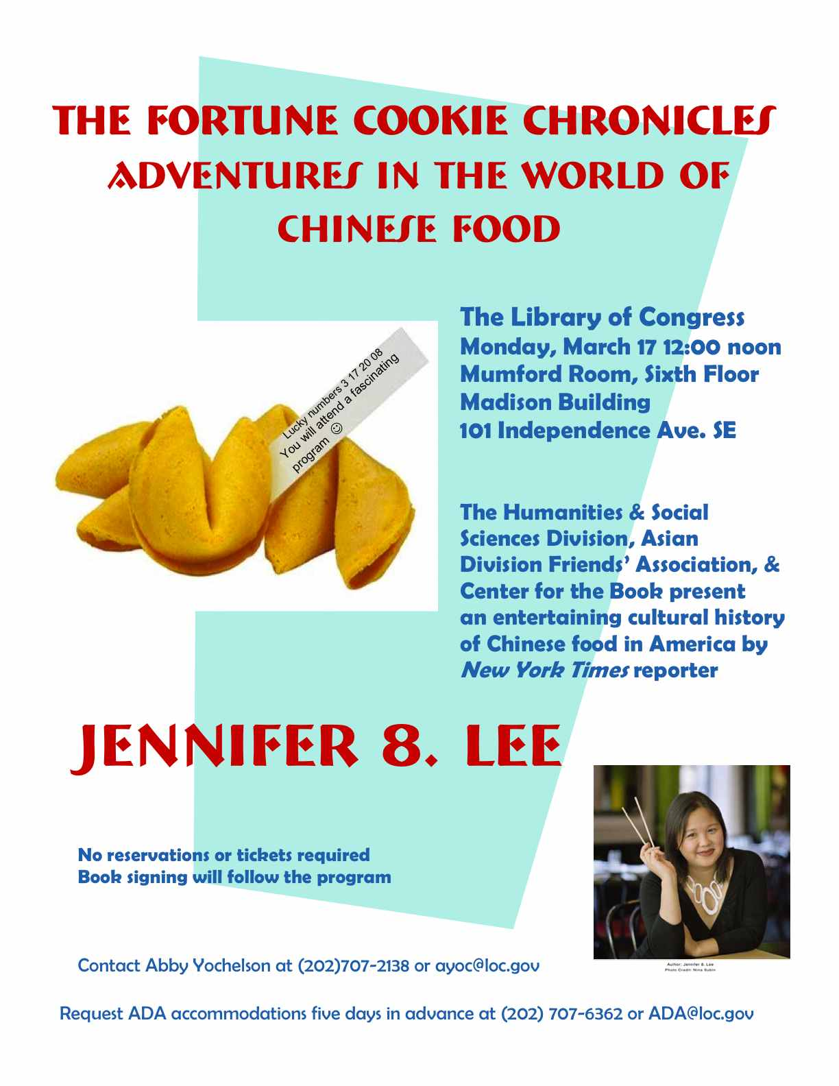 Library of Congress Fortune Cookie Chronicles Flyer