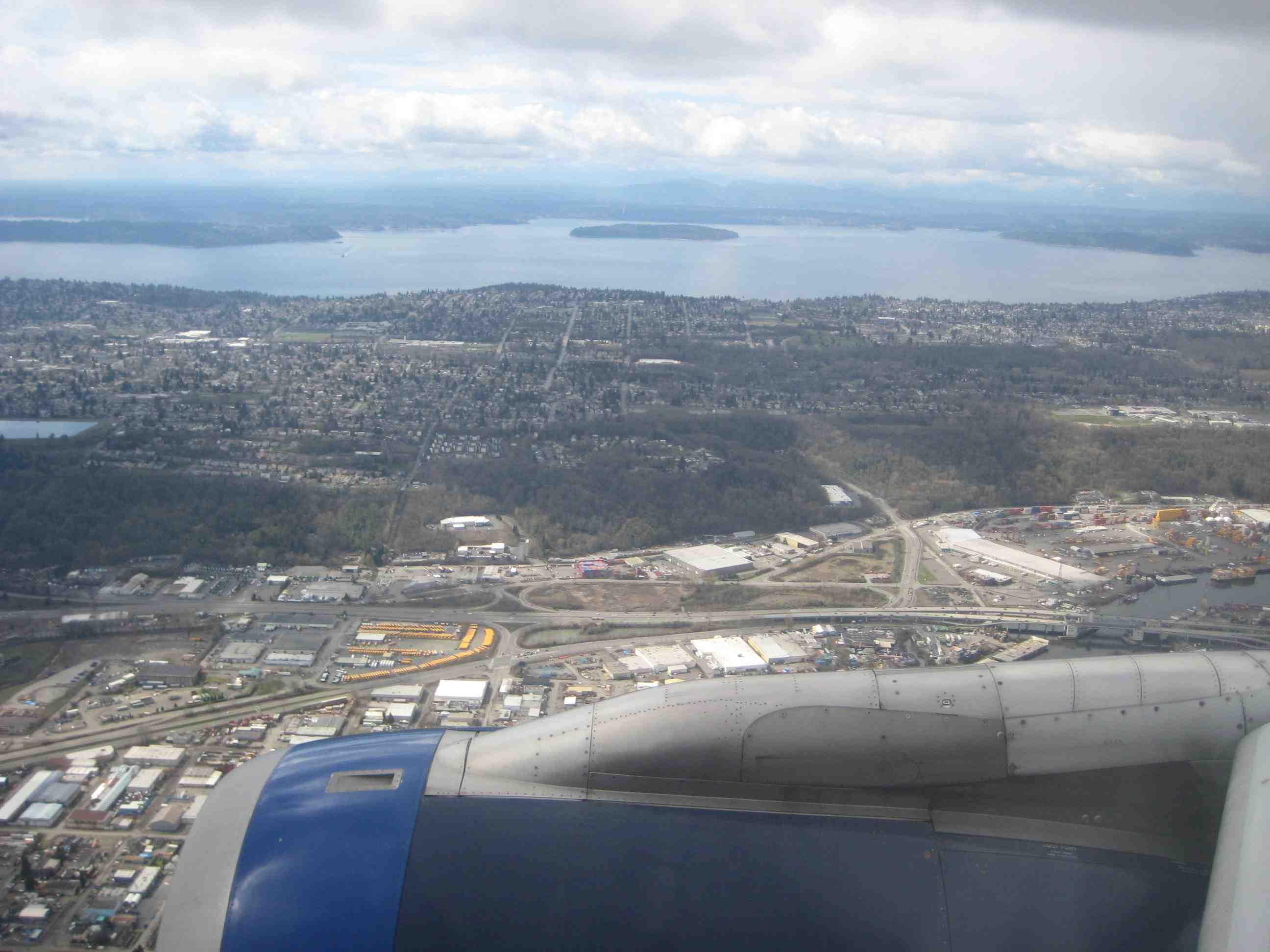 View of Seattle from a plane