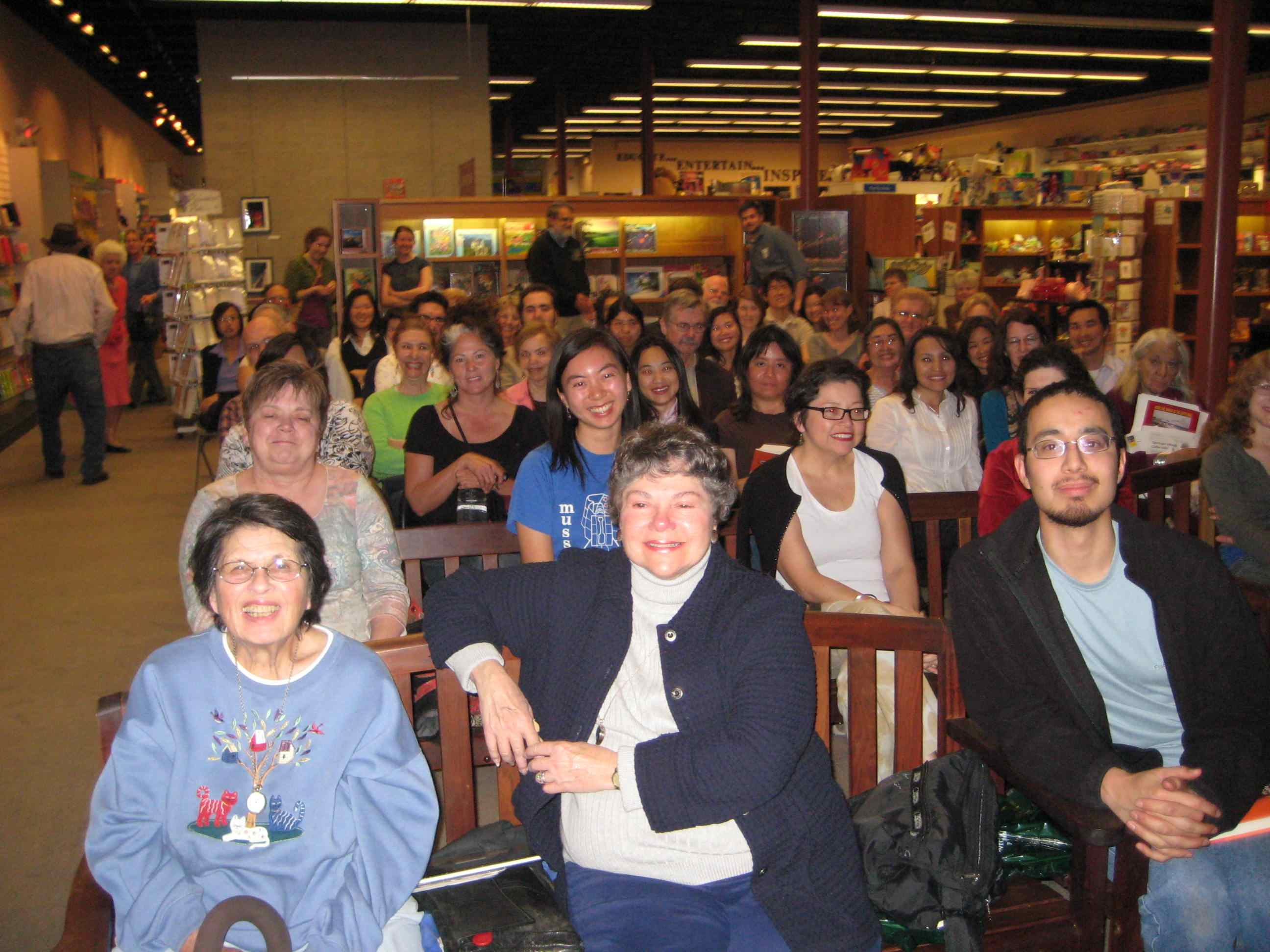 Vroman's Bookstore in Pasadena during Fortune Cookie Chronicles Presentation