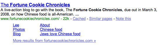 Google knows that Jews Love Chinese Food