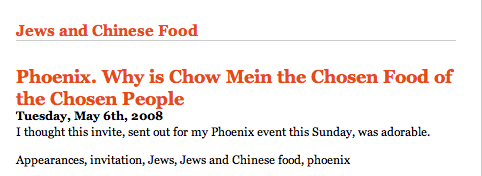 Fortune Cookie Chronicles Jews and Chinese Food