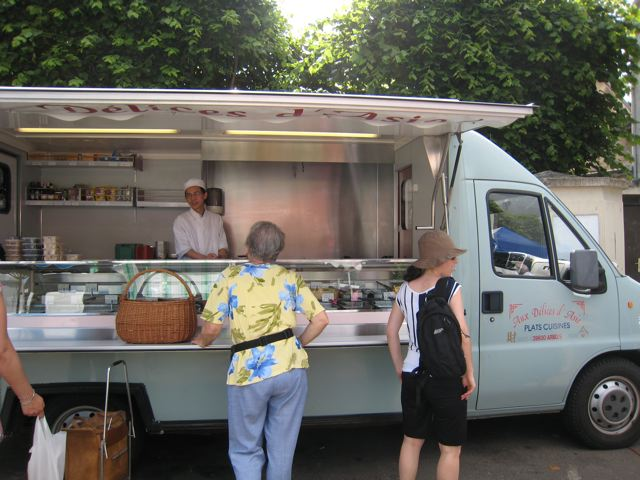 Chinese food truck in France