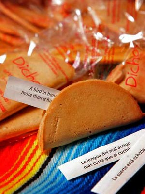 Mexican fortune cookies, dichos