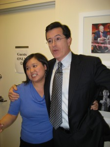 Jennifer 8. Lee and Stephen Colbert, March 4, 2008