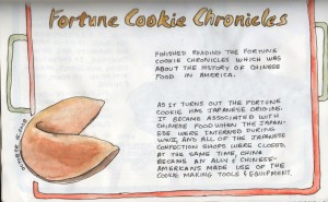 A Fortune Cookie Chronicles sketch by a Cleveland artist.