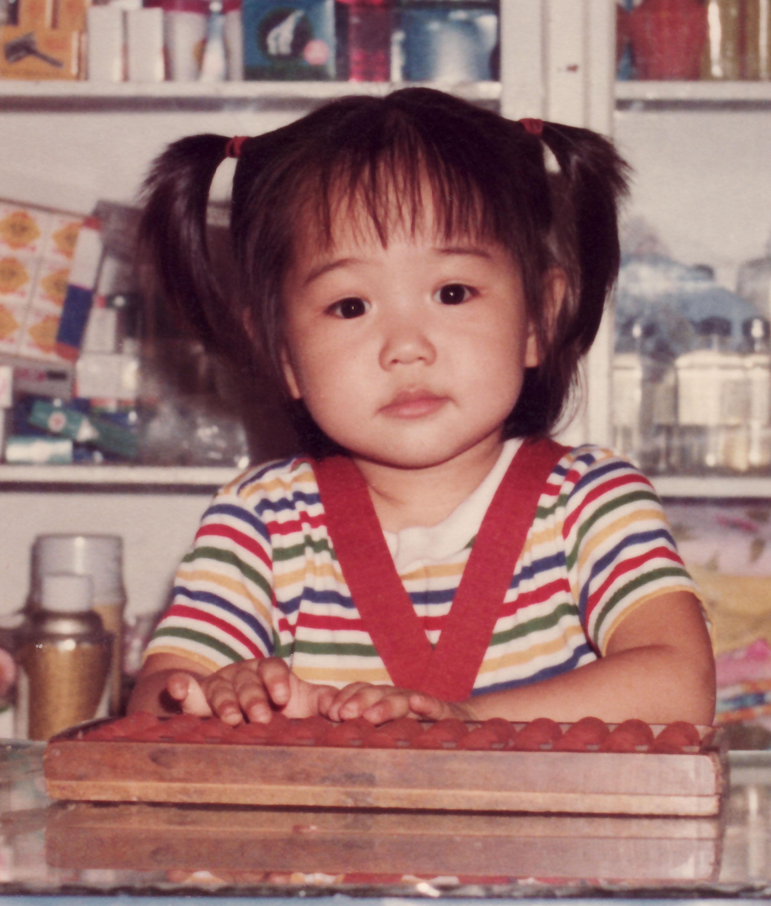 randomly cute kid pic of my sister in kinmen   the fortune cookie