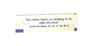 Strange Rubber Band Fortune